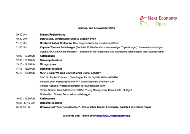 NEO15_Programm erster Tag