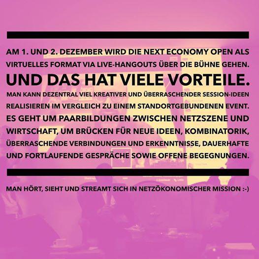 Mitmachen bei der #NEO16x am 1. und 2. Dezember